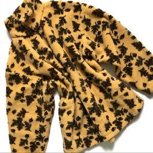 Tsunami Oak Leaf and Acorn Thick Fleece Jacket